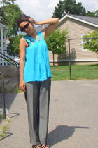 Alice  Olivia top - Betsey Johnson sunglasses - INC pants - Sofft shoes - Badass