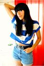 Blue-vintage-shirt-black-primark-belt-blue-vintage-shorts-silver-pull-bear