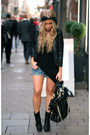 Black-asoscom-jacket-blue-acne-shorts-black-cos-top-black-zara-boots-bla