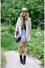 Beige-h-m-blazer-silver-monki-skirt-black-monki-shirt-black-zara-boots