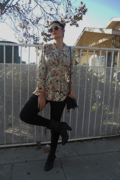 vintage belle rose purse - Bakers boots - Forever 21 tights - Target sunglasses