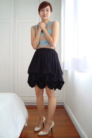 Topshop t-shirt - Store for all Seasons skirt - Zara shoes