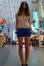 blue Gap shorts - black sandals Gap shoes - brown thrifted blouse