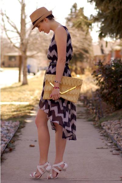 Forever 21 dress - woven fedora Forever 21 hat - woven asos bag