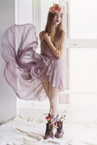 light purple chifon unknown dress
