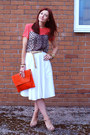 Orange-asos-bag-animal-print-topshop-top-white-debenhams-skirt