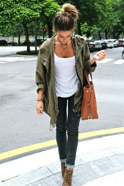 military green Zara blazer
