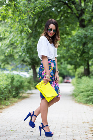 bright color Comme ca skirt