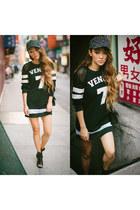 rag & bone shoes - Skingraft dress - black stampd hat