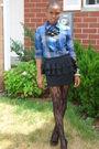 Black-forever-21-skirt-blue-madness-shirt-black-jessica-simpson-shoes