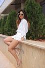 White-vero-moda-blazer-tan-h-m-bag-white-h-m-shorts