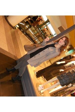 H&M jacket - New Yorker shoes - H&M dress - H&M bag - H&M stockings