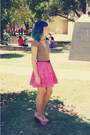 Brown-arizona-top-hot-pink-pepe-jeans-skirt-light-pink-jeffrey-campbell-heel