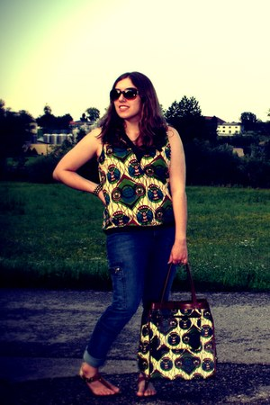 Marni at H&M bag - maria cher jeans - Juicy Couture sunglasses