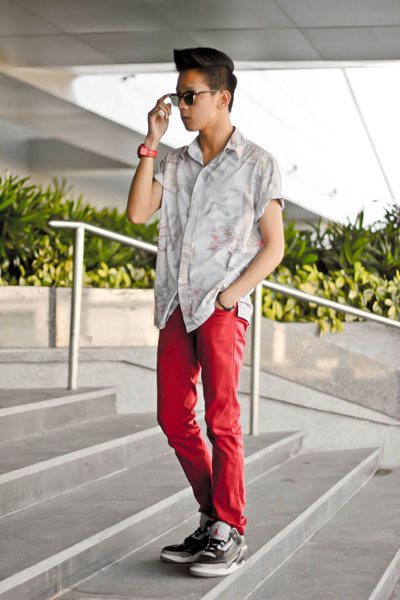 Armani Exchange shirt - ray-ban sunglasses - jordan air 3 nike sneakers