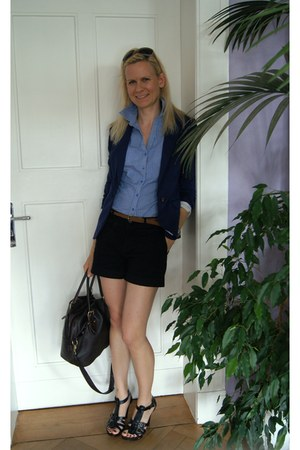 Pimkie blouse - H&amp;M blazer - Primark bag - Miss Anna shorts