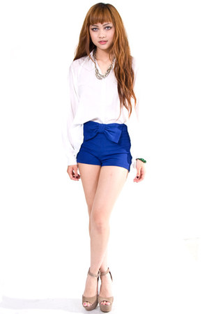blue bow hot pants 8000 nerves shorts