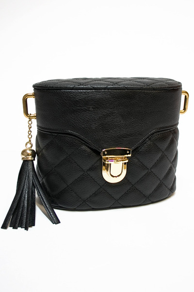 black Number A purse