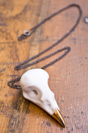 white Beetle & Flor necklace