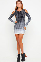 Vertical Squares Dress