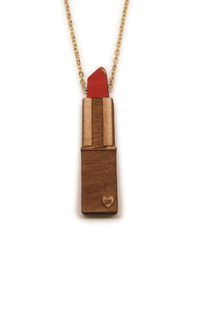 red Good Wood necklace