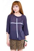Charcoal Gray Wildfox Shirts