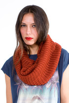 Burnt-orange-tube-knit-scarf-scarf