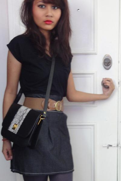 black dresses gray tights brown belts quot black dress