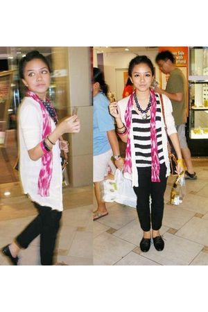 rubi scarf - DIY necklace - rubi&phuket accessories - bought from bangkok cardig
