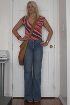 Express shirt - Uniqlo jeans - Old Navy purse