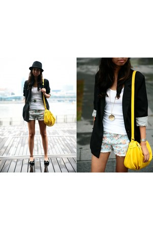 Bershka blazer - Marc by Marc Jacobs bag - thrifted shorts - Forever21 top
