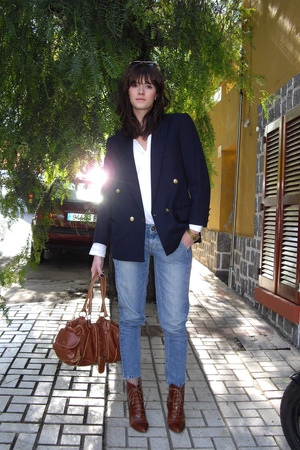vintage jacket - boots - Top Shop jeans