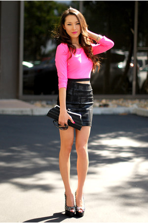 Forever 21 top - Forever 21 skirt - Sheinside heels