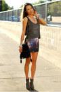 Amethyst-choies-skirt-gray-brashy-couture-top
