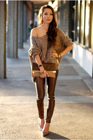 brown 2020 Ave pants - light brown Similar bag - gold Similar heels