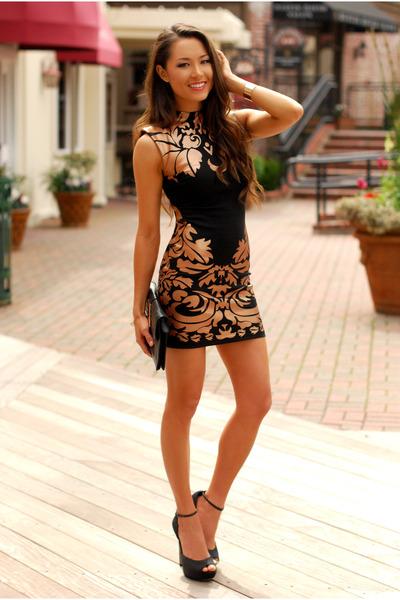 brown Clothes Envy dress - black Aldo heels