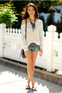 Green-style-co-bag-blue-american-eagle-shorts-dark-brown-express-necklace