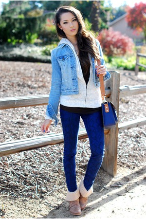 navy Big Star USA jeans - periwinkle American Eagle jacket