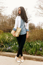 H&M blazer - chambray asos shirt
