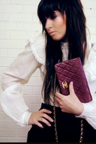 Chanel purse - vintage blouse