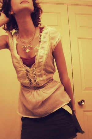 blouse - necklace - skirt