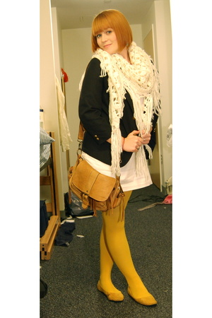 Gap dress - Nordstrom blazer - H&M scarf - ROOTS purse