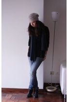 Urban Outfitters t-shirt - united colors of benetton scarf - H&M hat - Bata shoe