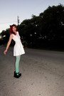 White-skater-kirra-dress-green-mint-mossimo-tights