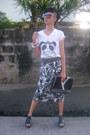 White-shirt-black-laptop-bag-avon-bag-dark-brown-sunglasses-black-skirt