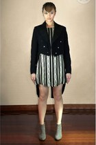 black Lisa Ho dress - black Hodges and Sons Sine 1860 jacket - silver Zara shoes