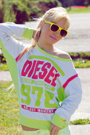 yellow Diesel hoodie