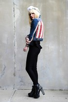 ruby red american Topshop jacket - black Jeffrey Campbell shoes