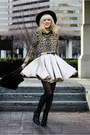Black-h-m-boots-cheetah-forever-21-sweater-gold-american-apparel-skirt