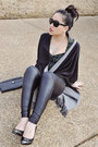 Shawl-bcbg-sweater-leather-hue-leggings-studded-clutch-nine-west-purse